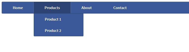 Lite Blue HTML Drop Down Menu