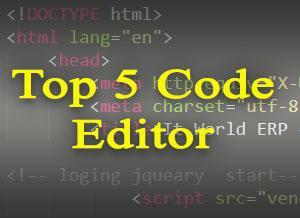Top 5 Code Editor
