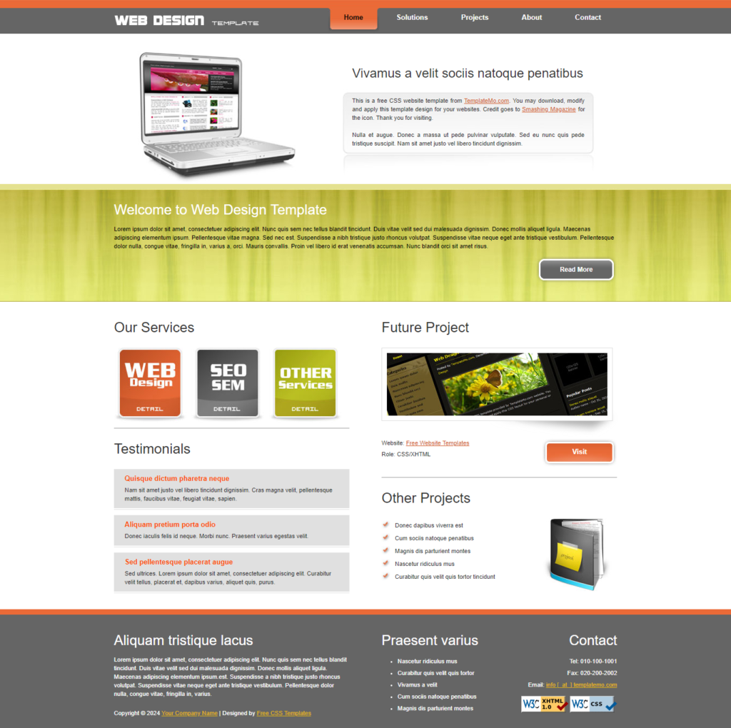 HTML CSS Business Template