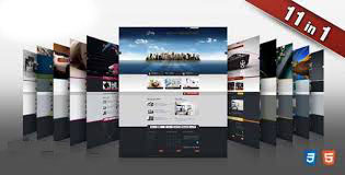 11 High Quality HTML CSS Business Template