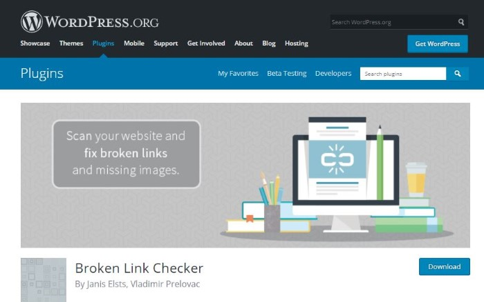 WP Plugin for Broken Link Check