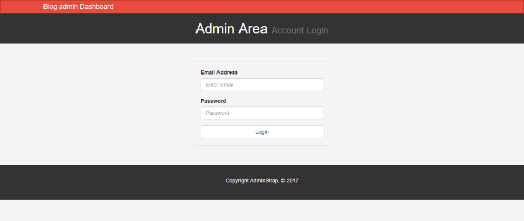 bootstrap admin dashboard_login