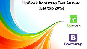 UpWork Bootstrap Test Answer (Get top 20%)
